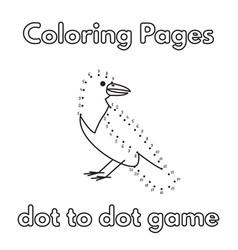 cartoon crow coloring book vector image vector image