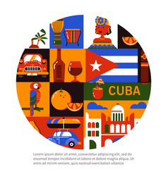 Cuba havana travel concept vector