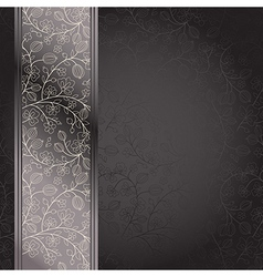 dark backdrop floral ornament with gooseberry vector image vector image