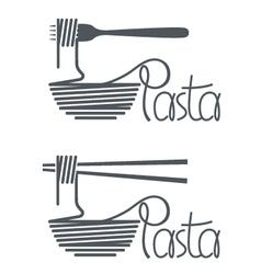 Dish of pasta design vector