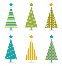 funky retro christmas tree design vector image vector image