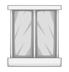 Storefront icon gray monochrome style vector image