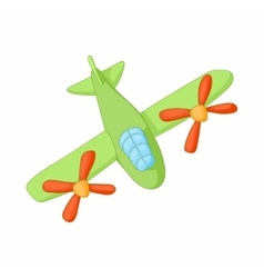 Airplane with two propeller engines icon vector image