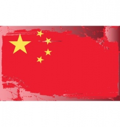 china national flag vector image