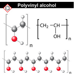 Polyvinyl alcohol polymer chemical structure vector image