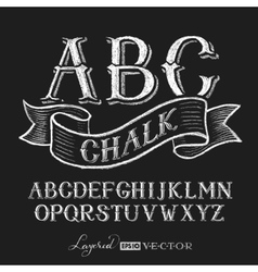 Alphabet hand drawn on chalkboard vector image