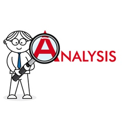 Analyst looking closely vector image vector image
