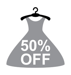 Discount offer with dress vector image vector image