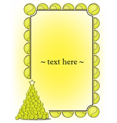 Frame with tennis ball vector image