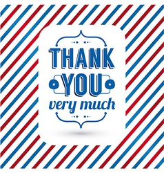 Thank you card on tricolor grunge background vector image vector image