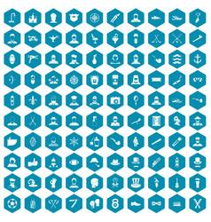 100 beard icons sapphirine violet vector