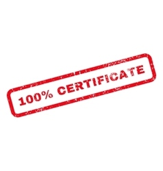 100 Percent Certificate Text Rubber Stamp vector