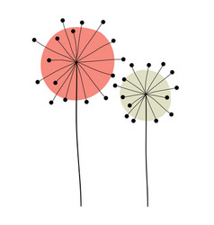 abstract hand drawn dandelion flower vector image