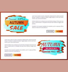 Autumn discount -45 clearance with icon on poster vector