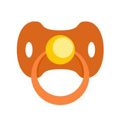Baby nipple icon flat style vector
