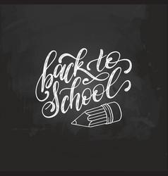 back to school handwritten with vector image