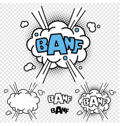banf comic effect vector image