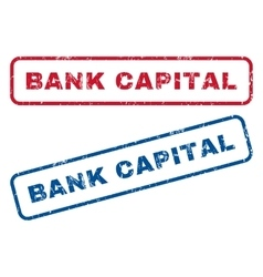 Bank Capital Rubber Stamps vector