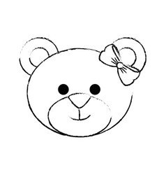 Bear cute cartoon vector
