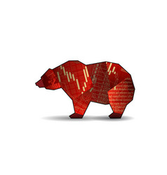 Bear with candlestick vector