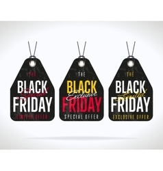 Black Friday sale sticker isolated vector image