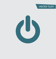 Blue on off icon isolated on background modern fl vector