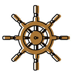 boat ship wheel vector image