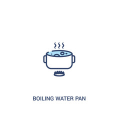 Boiling water pan concept 2 colored icon simple vector