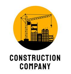 Building company service logo template vector
