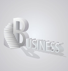 Business stair vector