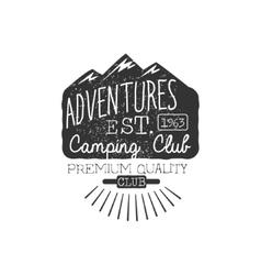 Camping Club Vintage Emblem vector