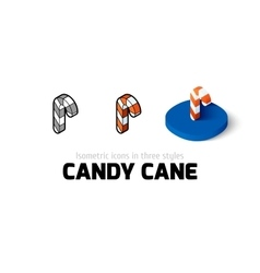 Candy cane icon in different style vector image