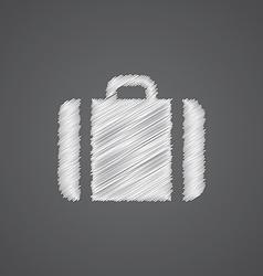 Case sketch logo doodle icon vector