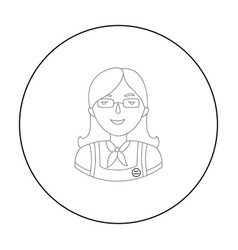 Cashier icon in outline style isolated on white vector