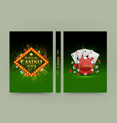 casino banner book a4 size paper template design vector image