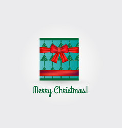 christmas box gift card vector image