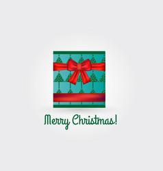 christmas box gift card vector image