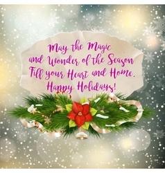Christmas greeting EPS 10 vector image