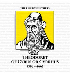 Church fathers theodoret cyrus or cyrrhus vector