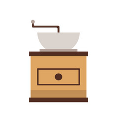 coffee grinder mill machine flat view vector image