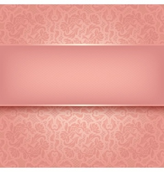 Decorative pink ornament vector