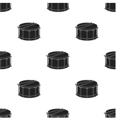 Drum icon in black style isolated on white vector