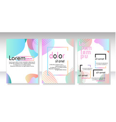 dynamic style banner design set with fluid vector image