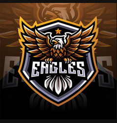 eagle esport mascot logo vector image