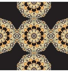 Endles Round Mandala Wallpaper Round frame vector image