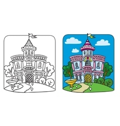 Fairy palace Coloring book vector