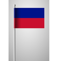 Flag of Haiti National Flag on Flagpole vector