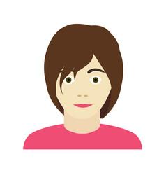 Flat icon of woman girl teen avatar vector