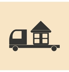 Flat in black and white mobile application home vector