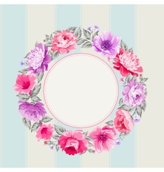 Flower garland vector